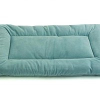 Pet Dreams Plush Sleep-eez  Dog Bed Reversible 19 by 13-Inch Pet Bed, X-Small, Sea Foam, Blue