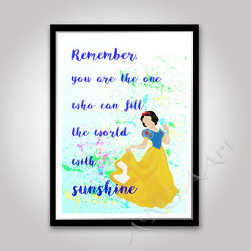 Snow White, Walt Disney Princess, Quote, Instant download, Princess Poster, nursery decor, Snow White quote, SnowWhite print, gift for girls