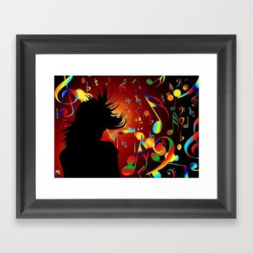 dance Framed Art Print by Karl-Heinz Lüpke