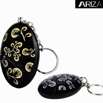 2017 new hot selling  keychain alarm  self defense personal alarm support customization black or gold printing color