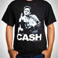 Johnny Cash Middle Finger Tee