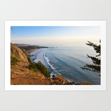 Big Sur, California Coast Art Print by leahdaniellle