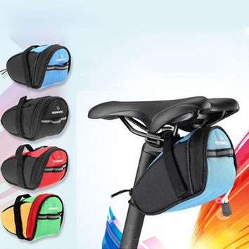 Le Xuan 13567 New Waterproof Cycling Seat Pouch Bicycle Tail Rear Storage Bike Saddle Tube Bag