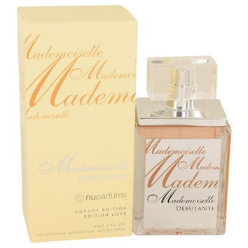 Mademoiselle Debutante by Nu Parfums Eau De Parfum Spray 3.3 oz