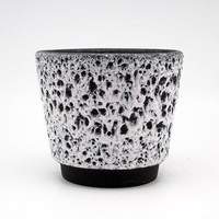 Black & White Fat Lava planter by Es Keramik