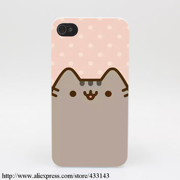 782M Pusheen Cat Cute Hard White Cover Case for iPhone 7 7 Plus 6 6s 6 6s plus 5 5s SE 5C 4s