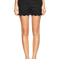 Gap Women Sunkissed Scallop Hem Shorts