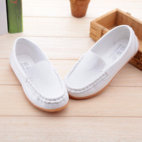 2016 New Boys &Girls Leather Shoes Baby  Moccasins kids Shoes Loafers Sneakers Fashion Children Shoes For soft bottom Boys X189