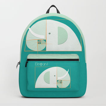 Fibonacci elephant Backpack by edrawings38