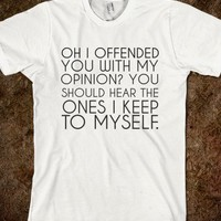 My Opinion-Unisex White T-Shirt