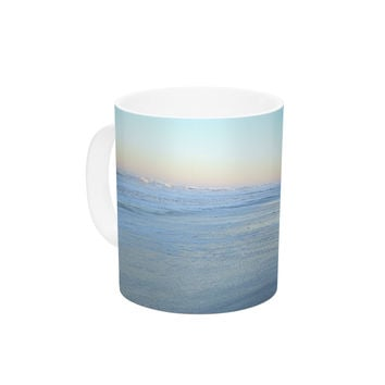 "Robin Dickinson ""Sand Surf Sunshine"" Beach Ceramic Coffee Mug"