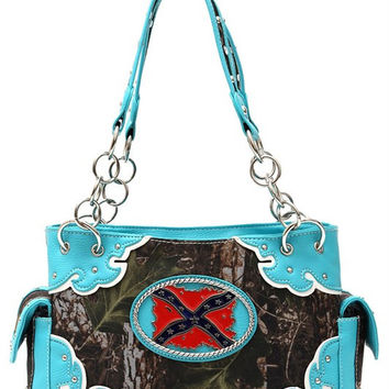 Camo Rebel Flag Purse