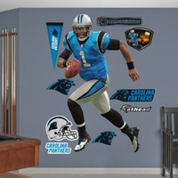 Fathead® NFL Carolina Panthers Cam Newton Home Wall Graphic