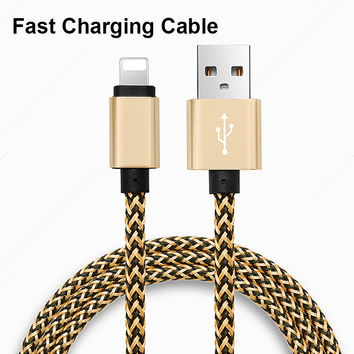 1M 2M 3M High Quality 8Pin Micro USB Fast Charging Power Bank Charger Cable For iPhone 7 6 6s Plus 5 5s Samsung S6 S7 HTC LG G3