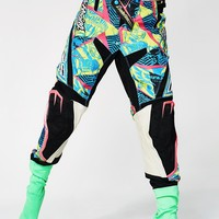 Vintage Rainbow Fox Racing Pants