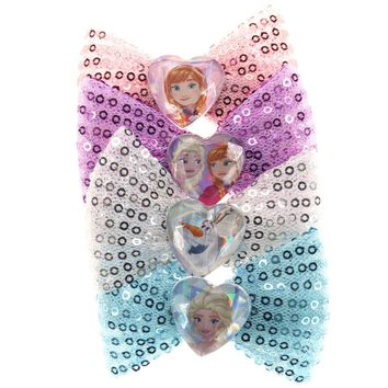 Frozen Sequin Hair Bows
