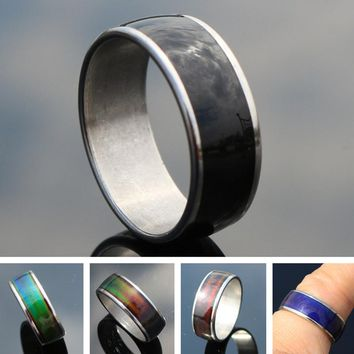 R038 Mood Rings For Women Men Temperature Changing Color Magic Emotion Feeling Ring Fashion Jewelry Finger Anel Anillos