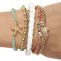 Mixed Sea Friendship Bracelet 5-Pack | Wet Seal