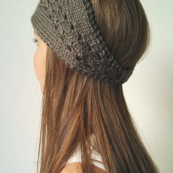 The Elle Headwrap - Knit Turban Headband - TAUPE - (more colors available)