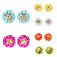 New Fashion Earrings Candy Color Earrings Studs Lovely Small Jewelry Princess Earrings for Girls