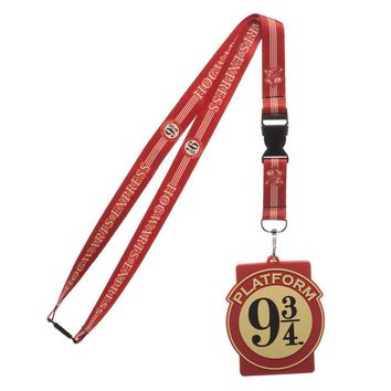 MPL Harry Potter Hogwarts Express Platform Nine and Three Quarters Breakaway Lanyard ID Badge Holder