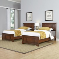 Home Styles 3-piece Chesapeake Twin Bed Frames and Night Stand Set (Cherry)