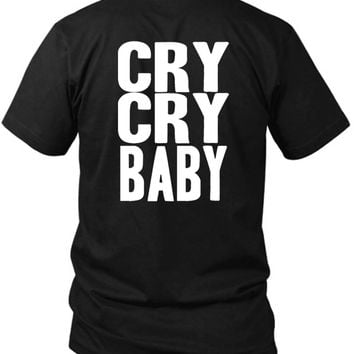 Cry Cry Baby 2 Sided Black Mens T Shirt
