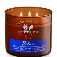 RELAX - LAVENDER & CEDARWOOD3-Wick Candle