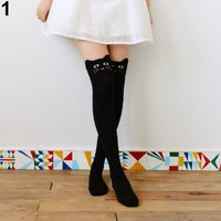 Women's Girls' Fashion Cute Eye-catching 3D Cartoon Animal Pattern Thigh Stockings over Knee High Knit Socks ERO = 1958011652