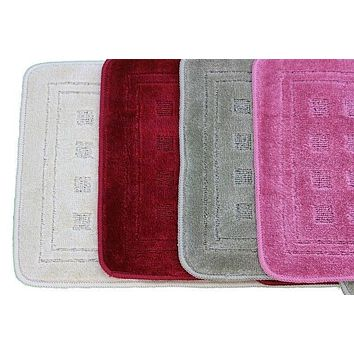 Tache 2 Piece Solid Bathroom Rug (TA2PCMF)