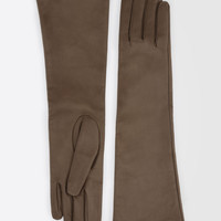Long Nappa leather gloves, beige-camel - LAMBERT Max Mara