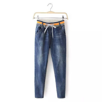 Stylish High Rise Casual Women's Fashion Pants Jeans [5013201476]