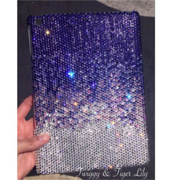 Swarovski Crystal Embellished Purple Fade Effect iPad CaseAvailable for All iPad Models - Bling iPad Mini, iPad Air Case