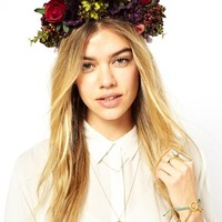 Rock 'N Rose Agnes Oversized Floral Berry Headband