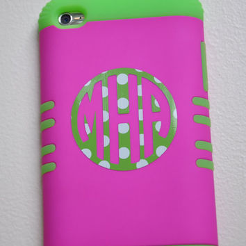 Vinyl Cell Phone Monogram---Circle Monogram Font---Vinyl Decal for Your Cell Phone or iTouch