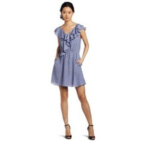 BCBGeneration Women`s Double Ruffle Front Dress $85.99