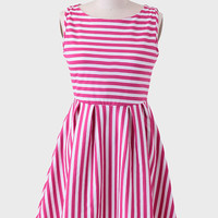 Sail Away Striped Curvy Plus Dress