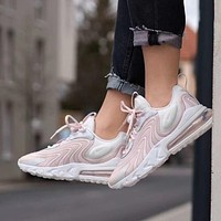 NIKE Air Max 270 React YP new ladies white powder stitching color air cushion casual sneakers