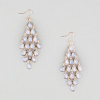 Full Tilt Facet Chandelier Earrings Light Blue One Size For Women 25361022101