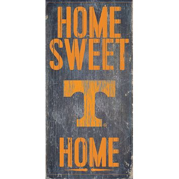 """Tennessee Volunteers Wood Sign - Home Sweet Home 6""""x12"""""""