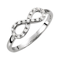14kt White Gold 1/8 CTW Diamond Infinity Ring