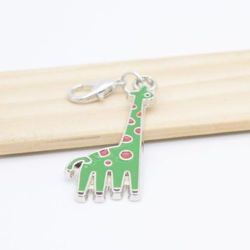 Pendant Charms Metal Green Giraffe Charms for Bracelet Bangle Necklace for Women Men Jewelry Accessory Fashion 2017