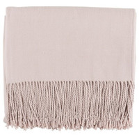 Blush Pink Silk Blanket Throw