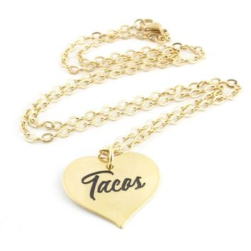 Tacos Heart Pinup Necklace