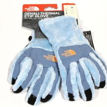 The North Face Women's Denali Thermal Etip Blue Gloves