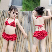 Baby Swimming Suit Lovely Fission Princess Baby 0 Woman Baby 1 Child 3 Year Girl Bikini Sexy Swimming Suit 4