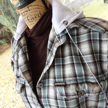 FLANNEL Hoodies, Button-Up: Women's Hoodie, oversized hoodies, button up hoodies, hooded flannel shirts, Plus Size