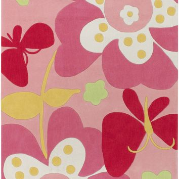 Surya Chic CHI1007 Pink/White Contemporary Area Rug