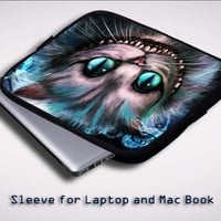 cheshire cat quote wallpaper Y0451 Sleeve for Laptop, Macbook Pro, Macbook Air (Twin Sides)