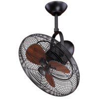 Porter 18 in. New Bronze Damp Rated Ceiling Fan